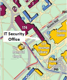 Location of IT Security Office in Torgersen