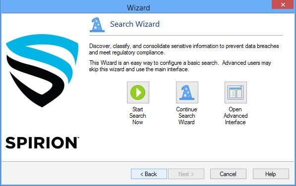 search wizard window image
